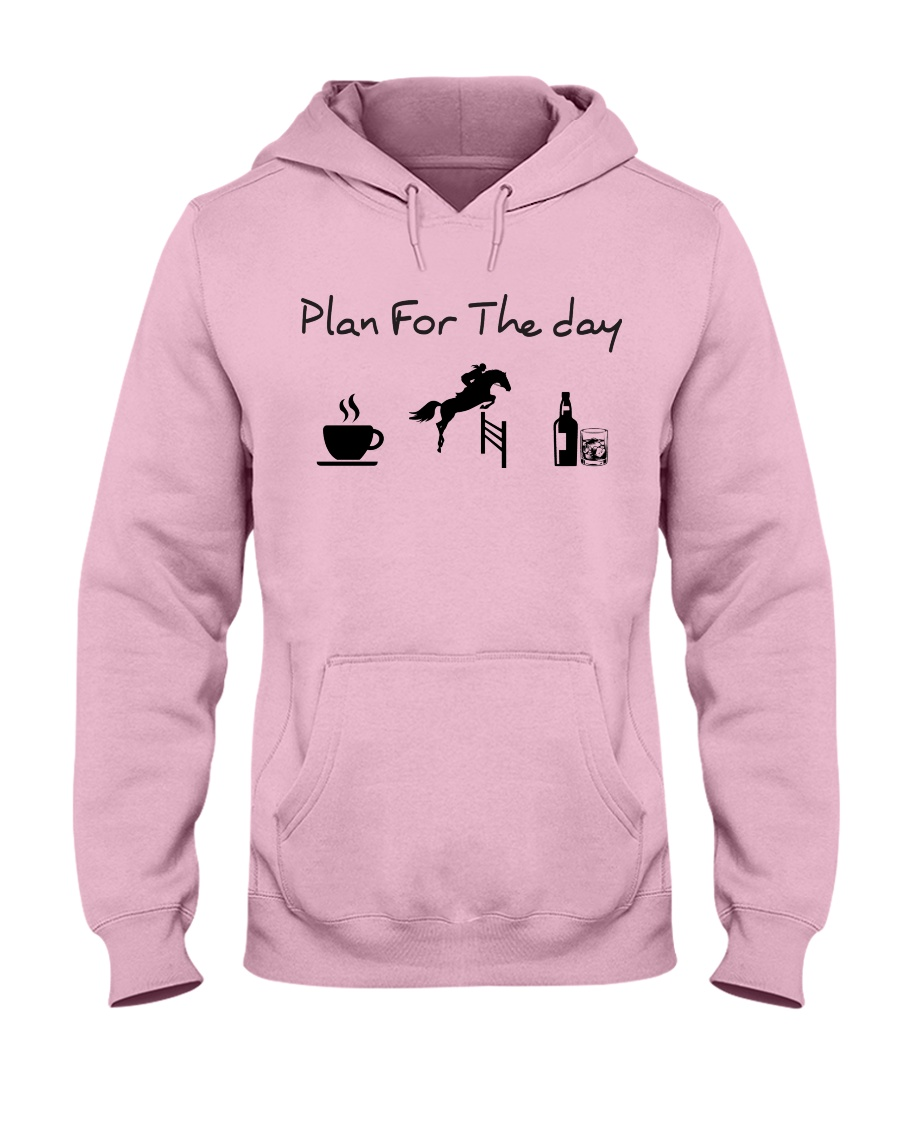 Plan for the day show jumping with spirits Hooded Sweatshirt