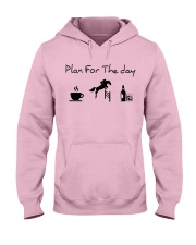 Plan for the day show jumping with spirits Hooded Sweatshirt front