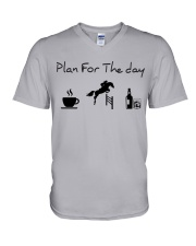 Plan for the day show jumping with spirits V-Neck T-Shirt thumbnail