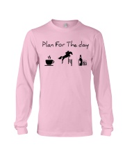 Plan for the day show jumping with spirits Long Sleeve Tee thumbnail