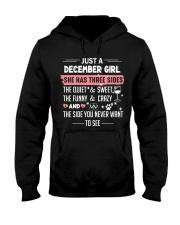Just a december girl Hooded Sweatshirt front