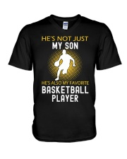 my son is a basketball player V-Neck T-Shirt thumbnail