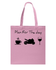 Plan for the day motorcycle Tote Bag thumbnail