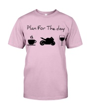 Plan for the day motorcycle Classic T-Shirt thumbnail