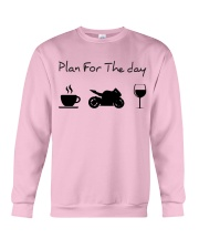 Plan for the day motorcycle Crewneck Sweatshirt thumbnail