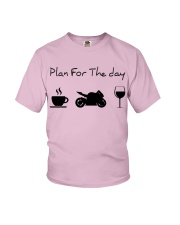 Plan for the day motorcycle Youth T-Shirt thumbnail