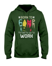 Born to camping Hooded Sweatshirt front