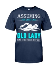 swimming old lady Classic T-Shirt thumbnail