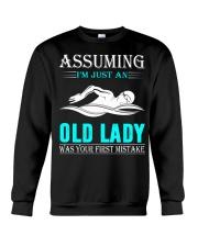 swimming old lady Crewneck Sweatshirt thumbnail