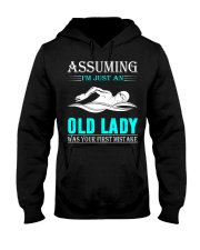 swimming old lady Hooded Sweatshirt front