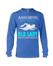 swimming old lady Long Sleeve Tee thumbnail