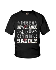 i'd rather be in the saddle-horse Youth T-Shirt thumbnail