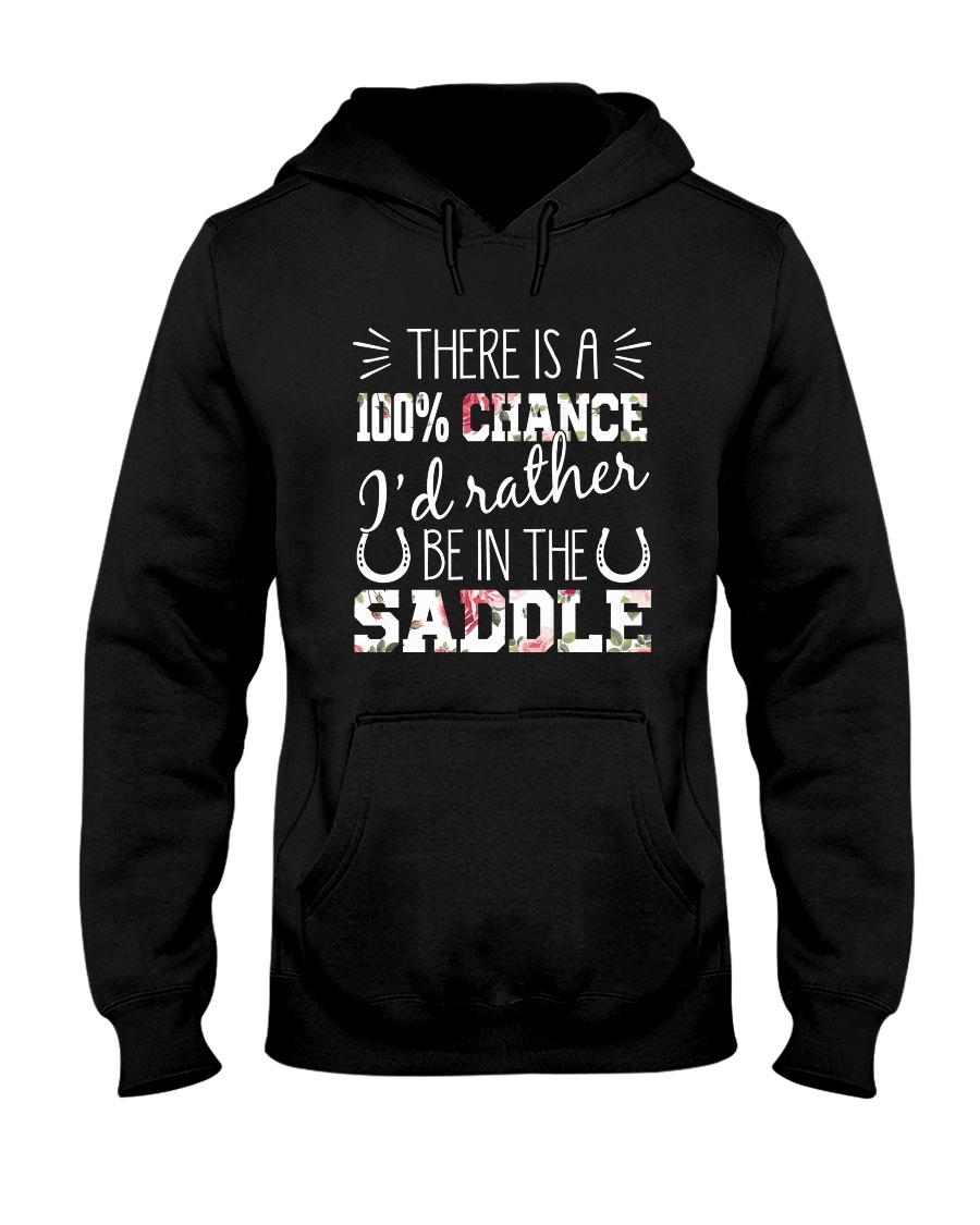 i'd rather be in the saddle-horse Hooded Sweatshirt