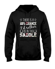 i'd rather be in the saddle-horse Hooded Sweatshirt front