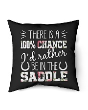"""i'd rather be in the saddle-horse Indoor Pillow - 16"""" x 16"""" thumbnail"""