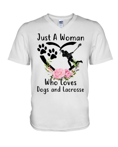 woman loves dogs and lacrosse