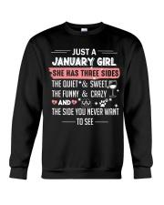 Just a january girl Crewneck Sweatshirt thumbnail