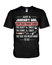 Just a january girl V-Neck T-Shirt thumbnail