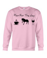 Plan for the day horse Crewneck Sweatshirt thumbnail