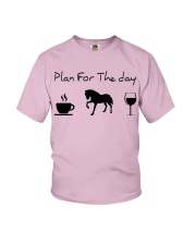 Plan for the day horse Youth T-Shirt thumbnail