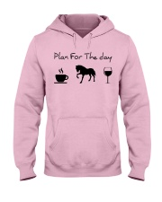 Plan for the day horse Hooded Sweatshirt front