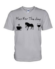 Plan for the day horse V-Neck T-Shirt thumbnail