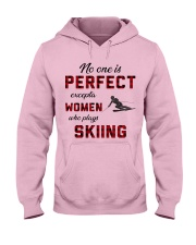 Skiing perfect Hooded Sweatshirt front