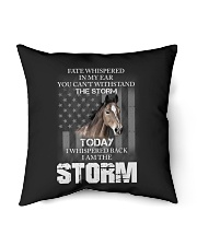 "I am the storm-horse Indoor Pillow - 16"" x 16"" thumbnail"