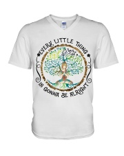 every little thing yoga V-Neck T-Shirt thumbnail