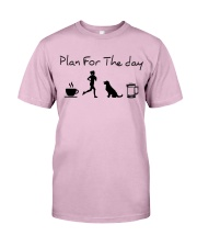 Plan for the day coffee running dogs and beer a Classic T-Shirt thumbnail