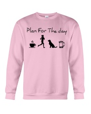 Plan for the day coffee running dogs and beer a Crewneck Sweatshirt thumbnail