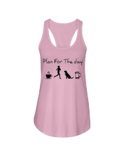 Plan for the day coffee running dogs and beer a Ladies Flowy Tank thumbnail