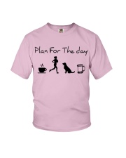 Plan for the day coffee running dogs and beer a Youth T-Shirt thumbnail
