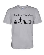 Plan for the day coffee running dogs and beer a V-Neck T-Shirt thumbnail