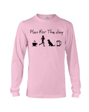 Plan for the day coffee running dogs and beer a Long Sleeve Tee thumbnail
