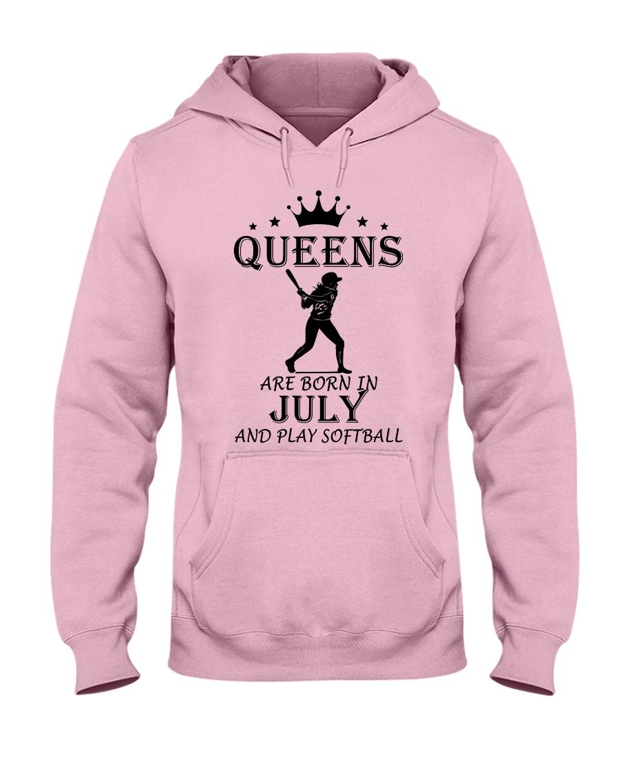 queens softball-july Hooded Sweatshirt