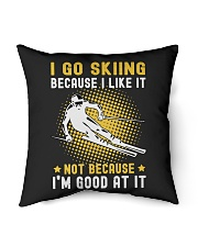 "i like skiing Indoor Pillow - 16"" x 16"" thumbnail"