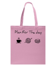 Plan for the day crochet and books Tote Bag thumbnail