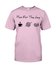 Plan for the day crochet and books Classic T-Shirt thumbnail