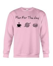 Plan for the day crochet and books Crewneck Sweatshirt thumbnail