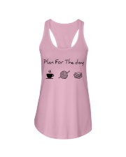 Plan for the day crochet and books Ladies Flowy Tank thumbnail