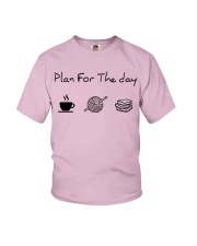 Plan for the day crochet and books Youth T-Shirt thumbnail
