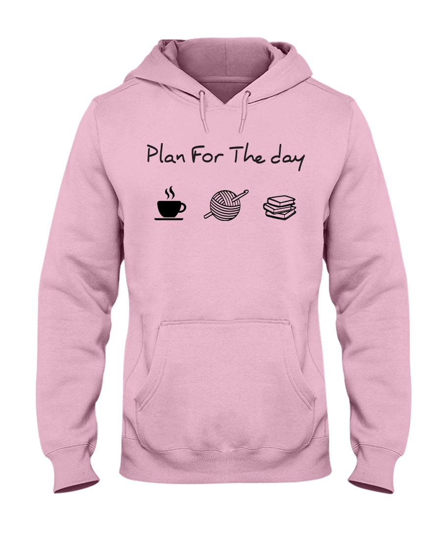Plan for the day crochet and books Hooded Sweatshirt