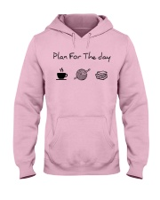 Plan for the day crochet and books Hooded Sweatshirt front