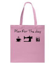 Plan fot the day coffee sewing and whiskey Tote Bag thumbnail