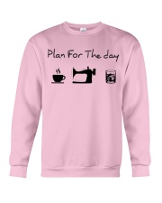 Plan fot the day coffee sewing and whiskey Crewneck Sweatshirt thumbnail