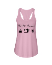 Plan fot the day coffee sewing and whiskey Ladies Flowy Tank thumbnail