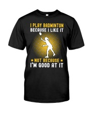 girl like badminton Classic T-Shirt thumbnail