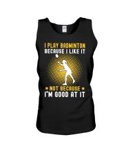 girl like badminton Unisex Tank thumbnail