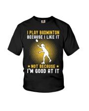 girl like badminton Youth T-Shirt thumbnail